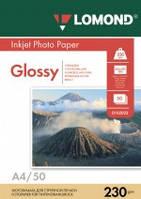 Бумага для струйных принтеров глянцевая Lomond 230 г/м, А4 50л.