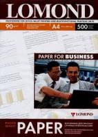 Бумага для струйных принтеров матовая Lomond 90 г/м, А4 500л.
