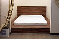 Кровать-подиум  с ящиком в спальню в нише под дерево, фото 1