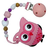 Прорезыватель Tiny world Розовый совенок (sa-0002)