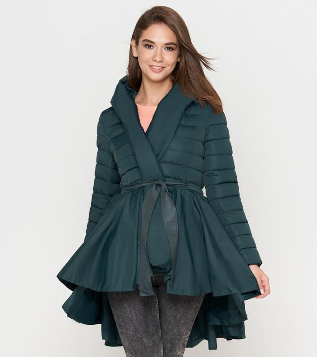 ac95bf546b3 Осенняя женская куртка зеленая Tiger Force 1830 -