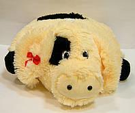 Подушка декоративная меховая Свинка, фото 1