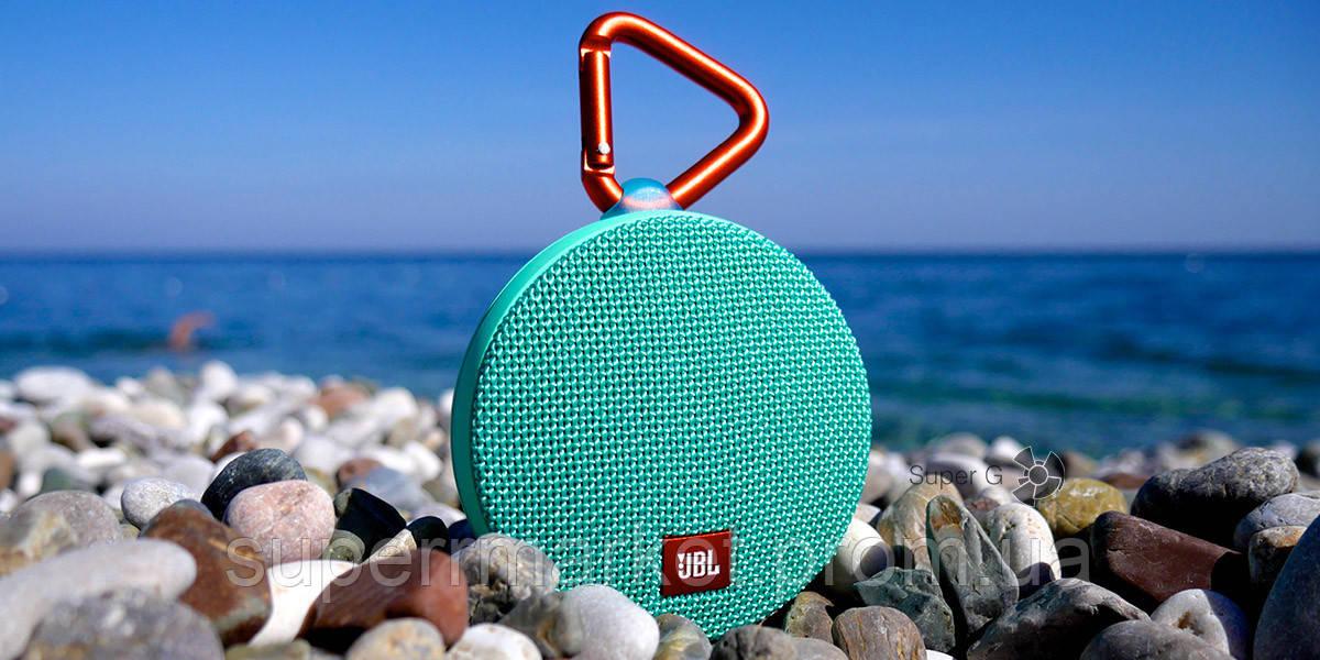 JBL Clip 2 3W копия, колонка c bluetooth MP3, Teal мятная