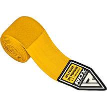 Бинты боксерские RDX Fibra Yellow 4.5m, фото 3
