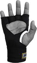 Бинт-перчатка RDX Neopren Gel Yellow S/M, фото 2