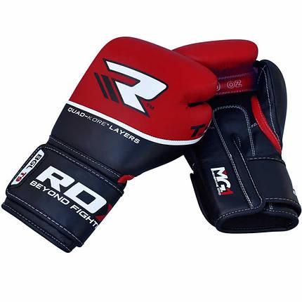 Боксерские перчатки RDX Quad Kore Red 14 ун., фото 2