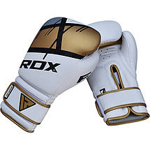 Боксерские перчатки RDX Rex Leather Gold 14 ун., фото 3