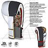 Боксерские перчатки RDX Rex Leather Gold 14 ун., фото 4