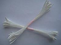 Тычинки для цветов белые острые25шт.(код 00496)