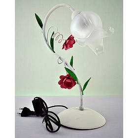 Настольная белая лампа с белым плафоном SW-10579/1T WH GN