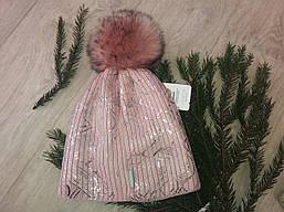 Шапка зимняя на девочку на флисе пр-ль Польша (размер 52-56) подростковая
