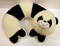 Декоративная меховая подушка для шеи Панда