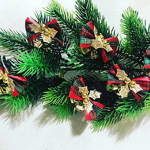 Новогодний декор.Бантики с колокольчиками для декора., фото 2