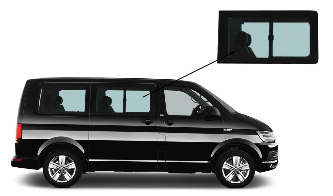 Боковое стекло Volkswagen T6 2015-c форточкой правое
