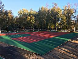 Двухслойное покрытие для спортивной площадки г. Миргород 13