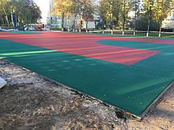 Двухслойное покрытие для спортивной площадки г. Миргород 15