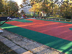 Двухслойное покрытие для спортивной площадки г. Миргород 16