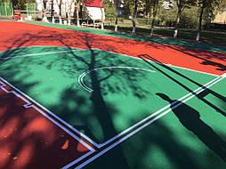 Двухслойное покрытие для спортивной площадки г. Миргород 18