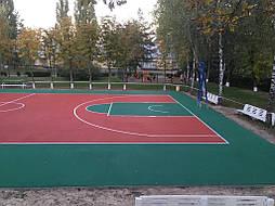 Двухслойное покрытие для спортивной площадки г. Миргород 20
