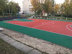 Двухслойное покрытие для спортивной площадки г. Миргород 21