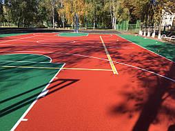 Двухслойное покрытие для спортивной площадки г. Миргород 24