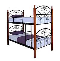 ✅Двухъярусная кровать Патриция Вуд 90х190 см ТМ Melbi