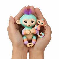 Інтерактивна мавпочка Fingerlings Baby Monkey and Mini BFF - Danny & Gianna (Turquoise-Orange) - by WowWee