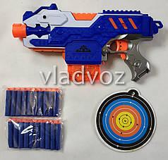 Детский пистолет с присосками и мишенью Soft gun синий