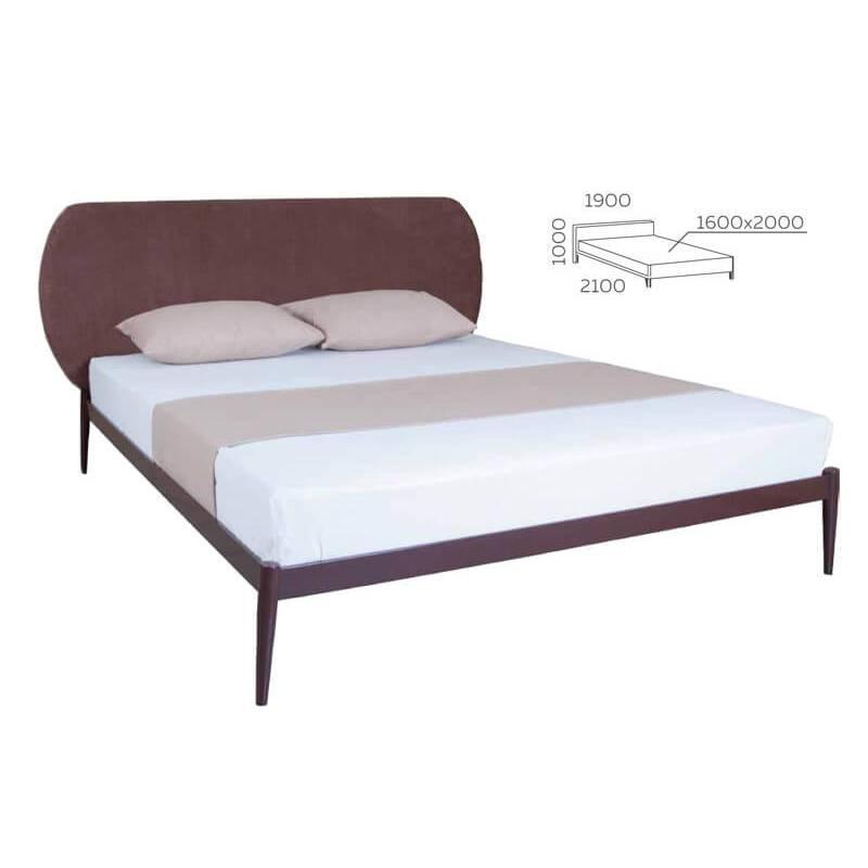 Кровать Бьянка 02 двуспальная 120х190 см ТМ Melbi