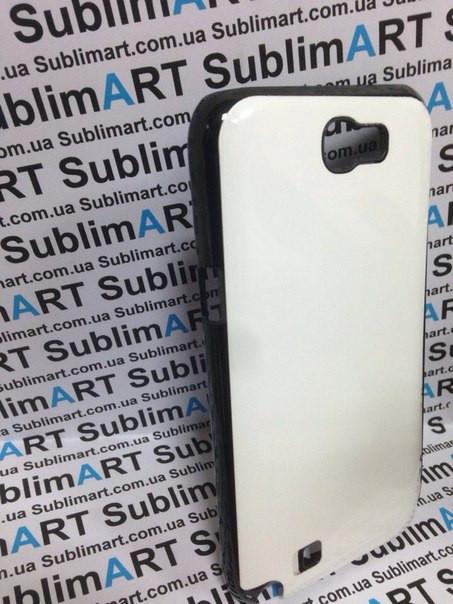Чехол для 2D сублимации пластиковый на Samsung Note 2 черный (закругленная пластина)