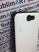 Чехол для 2D сублимации пластиковый на Samsung Note 2 черный (закругленная пластина), фото 3