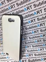 Чехол для 2D сублимации пластиковый на Samsung Note 2 черный (закругленная пластина), фото 2