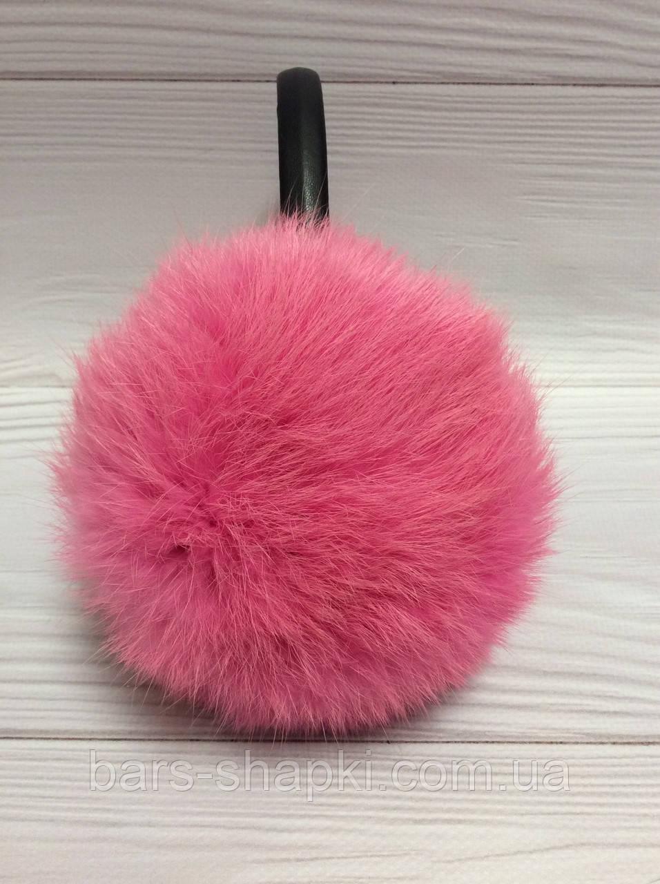 Меховые наушники, мех кролик. Цвет розовый