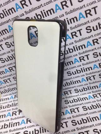 Чехол для 2D сублимации пластиковый на Samsung Note 3 черный (закругленная пластина), фото 2