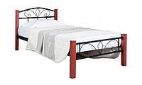 Кровать Лара Люкс Вуд  односпальная 90х190 см ТМ Melbi
