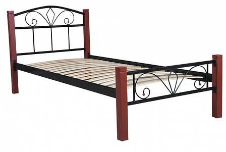 Кровать Лара Люкс Вуд  односпальная 90х190 см ТМ Melbi, фото 2