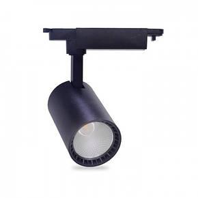 Трековый светодиодный светильник Feron AL102 12w 4000К черный, фото 2