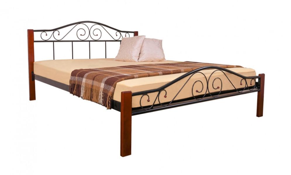 Кровать Элис Люкс Вуд двуспальная 120х190 см ТМ Melbi
