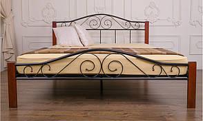 Кровать Элис Люкс Вуд двуспальная 120х190 см ТМ Melbi, фото 2