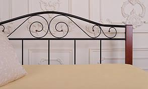 Кровать Элис Люкс Вуд двуспальная 120х190 см ТМ Melbi, фото 3