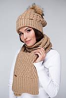 Стильный женский вязаный шарф