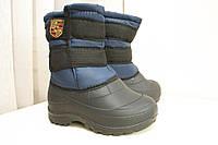 Высокие ботинки на меху (Код  БД-13 синий) f4262b7ceade0