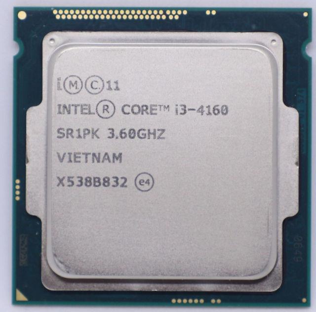 "Процессор Intel Core i3-4160 3.6GHz/5GT/s/3MB Tray (BX80646I34160) s1150 ""Over-Stock"" Б/У"