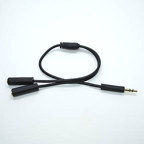 Адаптер 2E audio splitter black (2E-W9697) EAN/UPC: 708744071569, фото 2