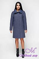 Женское теплое пальто осень весна (р. 44-54) арт. 1140 Тон 12