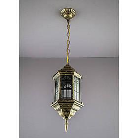 Светильник уличный подвесной бронзовый на одну лампу IP44 SV-10698/1P 6 B/J