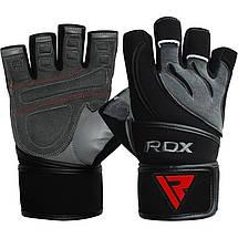 Перчатки для фитнеса RDX Pro Lift Black XL, фото 3