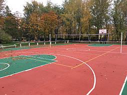 Двухслойное покрытие для спортивной площадки г. Миргород 33