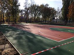 Двухслойное покрытие для спортивной площадки г. Миргород 34