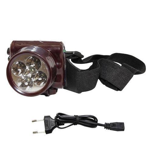 Налобный аккумуляторный фонарик на 5 LED YAJIA (YJ-1829-5)